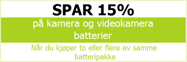 Digitalkamera Batterier og Ladere
