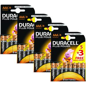 Duracell Plus Power AAA 32 pakke av Batterier