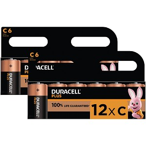 Duracell Plus Power C Size (12Pack)