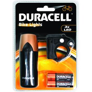 Duracell 3 LED  Front Bicycle Light