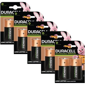 Duracell Rechargeable D Size 10 Pack
