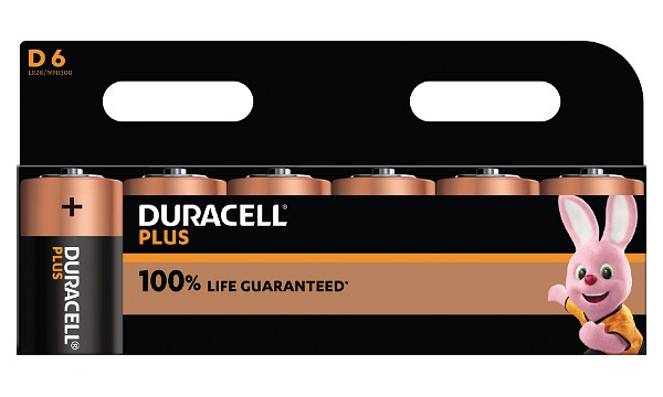 Duracell Plus D Size 6 Pack