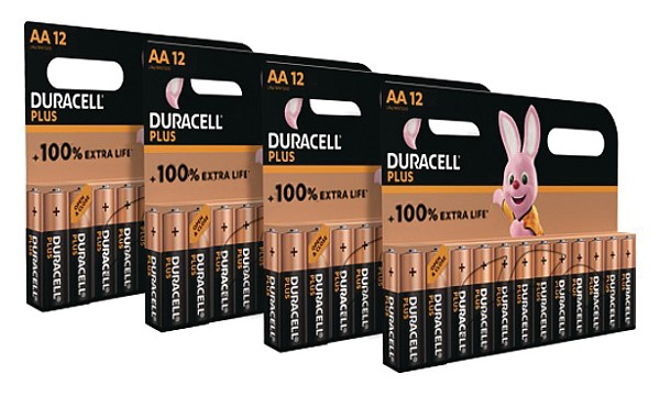 Duracell Plus AA Battery 48 Pack