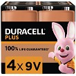 Duracell Plus Power 9v Pakke med 4